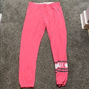 Bright pink joggers